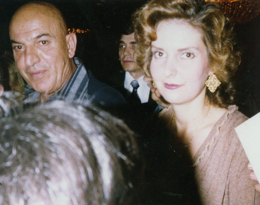 Trula Sfarnas with Telly Savalas